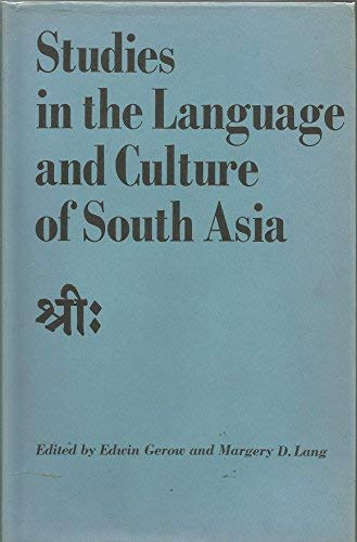 Studies in the Languages and Culture of: Gerow, Edwin, Lang,