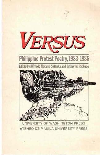 9780295965994: Versus: Philippine Protest Poetry, 1983-1986