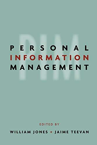 Personal Information Management: Jones, William