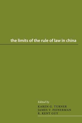 9780295994468: The Limits of the Rule of Law in China (Asian Law Series)