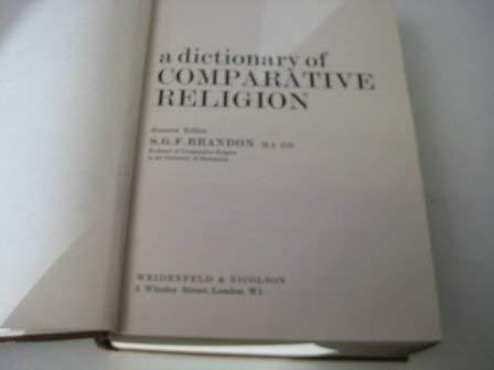 9780297000440: Dictionary of Comparative Religion
