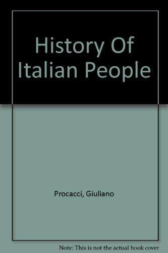 9780297001928: History of the Italian People