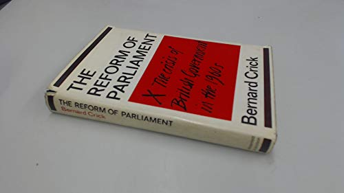 9780297760832: Reform of Parliament