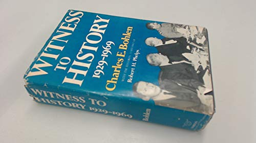 9780297766339: Witness to History, 1929-69