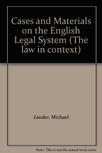 9780297770695: Cases and Materials on the English Legal System (The law in context)