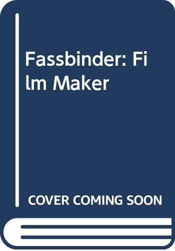 Fassbinder: Film Maker: Hayman, Ronald