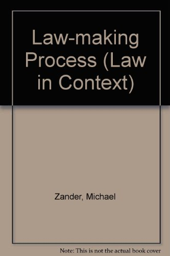9780297786627: The law-making process (Law in context)