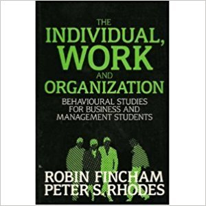 9780297791393: Individual, Work and Organization