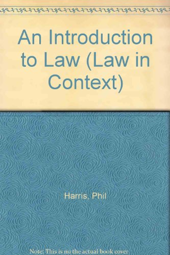 9780297793403: An Introduction to Law (Law in Context)
