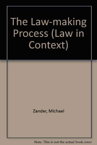 9780297795629: The Law-making Process (Law in Context)