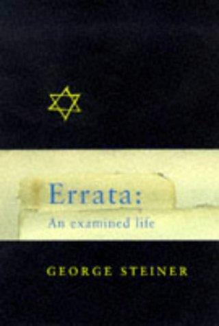 9780297818380: Errata: A Life in Ideas