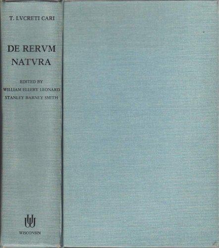 9780299003623: De Rerum Natura: Libri Sex