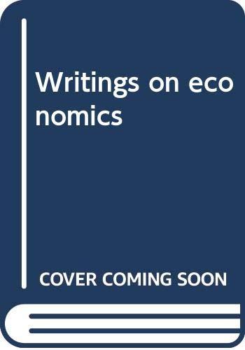 9780299013240: Writings on economics