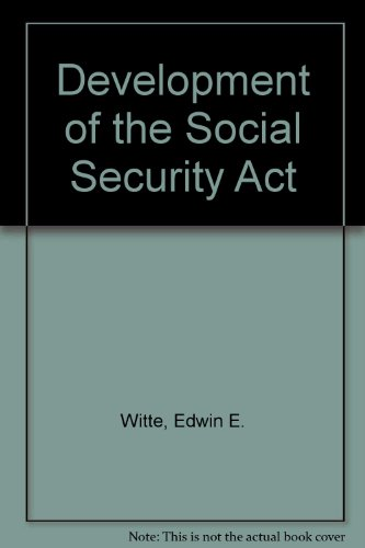 9780299025441: Development of the Social Security Act