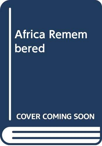 9780299042813: Africa Remembered: Narratives by West Africans from the Era of the Slave Trade