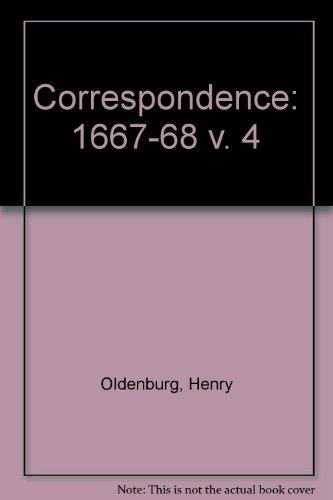 004: The Correspondence of Henry Oldenburg, Vol.: Oldenburg, Henry; Hall,