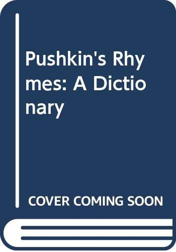 9780299064808: Pushkin's Rhymes: A Dictionary (English and Russian Edition)