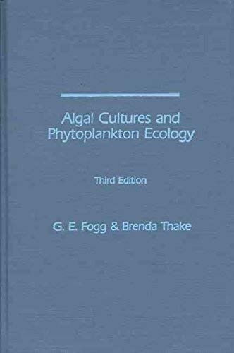 9780299067601: Algal cultures and phytoplankton ecology