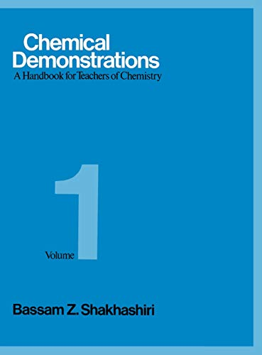 9780299088903: Chemical Demonstrations : A Handbook for Teachers of Chemistry Vol 1