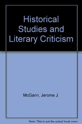 9780299102807: Historical Studies and Literary Criticism