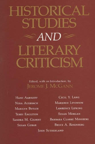 Historical Studies and Literary Criticism: McGann, Jerome