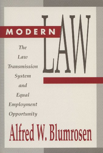 9780299137342: Modern Law: The Law Transmission System and Equal Employment Opportunity