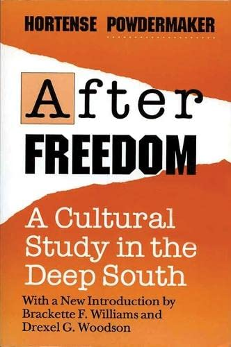 9780299137847: After Freedom: A Cultural Study In The Deep South (New Directions in Anthropological Writing)