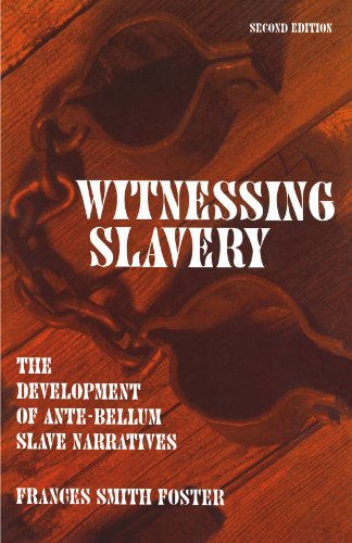 9780299142148: Witnessing Slavery: The Development Of Ante-Bellum Slave Narratives (Wisconsin Studies in Autobiography)