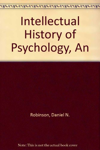 9780299148409: Intellectual History of Psychology, An