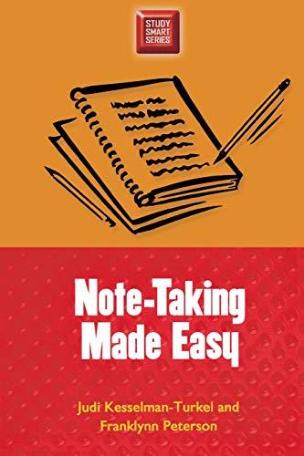 Note-Taking Made Easy (Study Smart Series): Judi Kesselman-Turkel, Franklynn