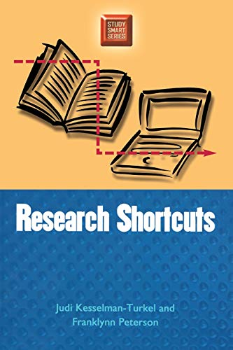 Research Shortcuts (Study Smart S) (0299191648) by Judi Kesselman-Turkel; Franklynn Peterson