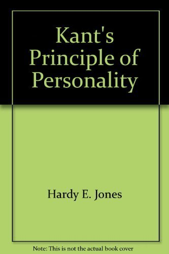 9780299260200: Kant's Principle of Personality