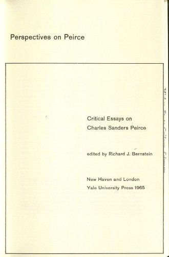 9780300003086: Perspectives on Peirce: Critical Essays on Charles Sanders Peirce