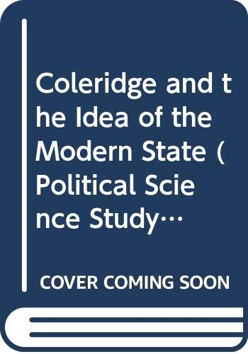 9780300003420: Coleridge and the Idea of the Modern State
