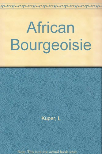 9780300006452: African Bourgeoisie