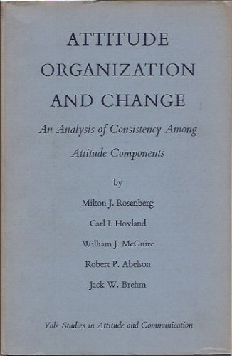 Attitude Organization and Change: an Analysis of Consistency Among Attitude Components: Milton J. ...