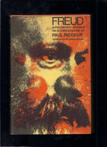 FREUD & PHILOSOPHY: AN ESSAY ON INTERPRETATION: RICOEUR, PAUL