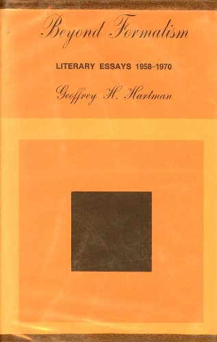 9780300013276: Beyond Formalism: Literary Essays, 1958-70