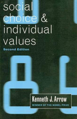 9780300013641: Social Choice and Individual Values, Second edition (Cowles Foundation Monographs Series)
