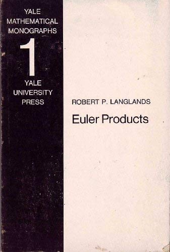 9780300013955: Euler Products (Mathematical Monograph)