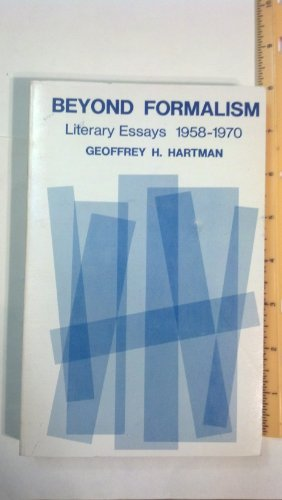 9780300015157: Beyond Formalism: Literary Essays, 1958-70