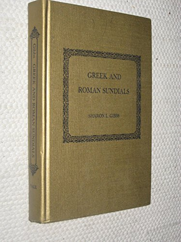 9780300018028: Greek and Roman Sundials