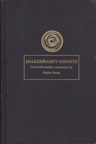 stephen booth an essay on shakespeares sonnets This prize-winning work provides a facsimile of the 1609 quarto printed in parallel with a conservatively edited, modernized text, as well as commentary that ranges from brief glosses to substantial critical essays stephen booth's notes help a modern reader toward the kind of understanding that.