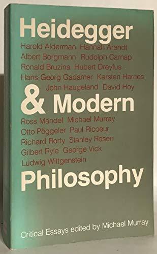 9780300022360: Heidegger and Modern Philosophy