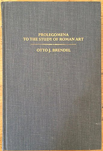 9780300022681: Prolegomena to the Study of Roman Art
