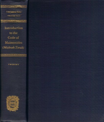 9780300023190: Introduction to the Code of Maimonides: Mishneh Torah (Yale Judaica)