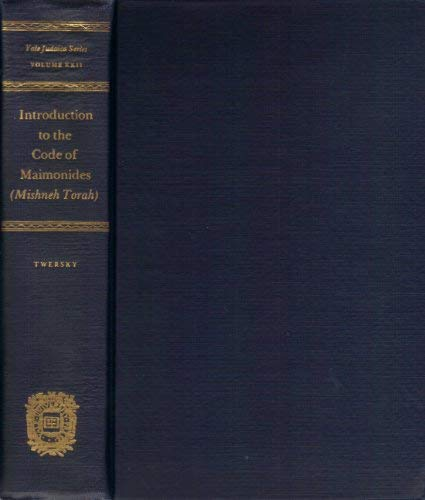 9780300023190: Introduction to the Code of Maimonides (Mishneh Torah)