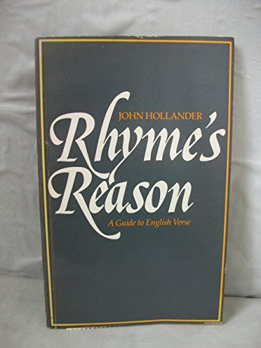 9780300027402: Rhyme's Reason: A Guide to English Verse