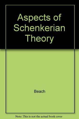9780300028003: Aspects of Schenkerian Theory