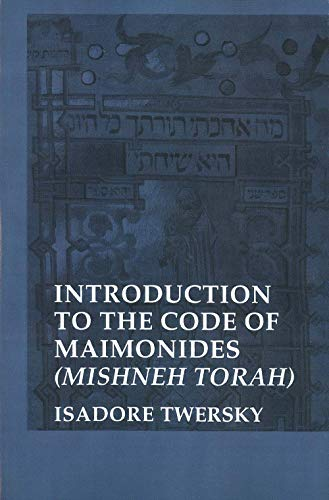 9780300028461: Introduction to the Code of Maimonides: Mishneh Torah (Yale Judaica) (Yale Judaica Series)